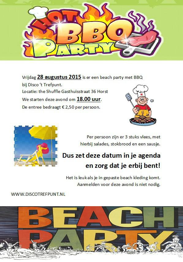 Beachparty en BBQ 2015